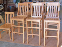 Click to view larger photo of maple stools