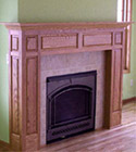 Click to view larger photo of oak mantel and surround