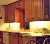 Click to view larger photo of oak custom kitchen cabinets